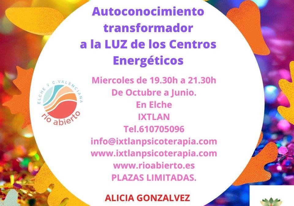 Autoconocimiento Transformador, a la luz de los Centros de Energía de Río Abierto. Alicia Gonzalvez.